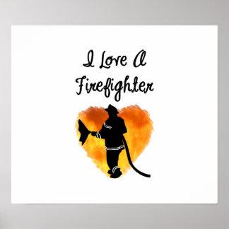 Amo a un bombero póster