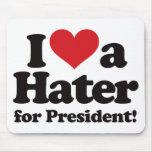 Amo a un enemigo para el presidente alfombrillas de ratón