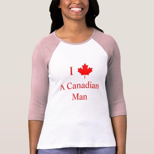 Amo a un hombre canadiense tshirts