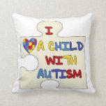 Amo a un niño con autismo cojin