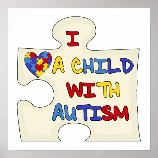 Amo a un niño con autismo poster