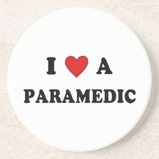 Amo a un paramédico posavaso para bebida