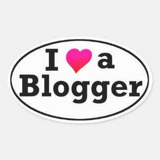 Amo a un pegatina del Blogger