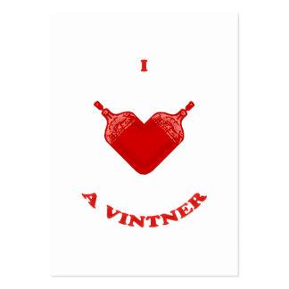 Amo a un Vintner Tarjeta De Visita