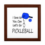 amo a usted puedo dejo para ir azul del pickleball cajas de recuerdo