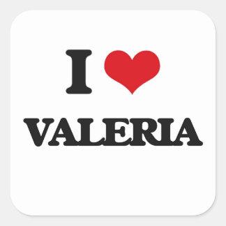 Amo a Valeria Pegatina Cuadrada