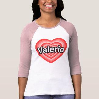 Amo a Valerie. Te amo Valerie. Corazón Camiseta