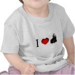 Amo a vampiros camisetas