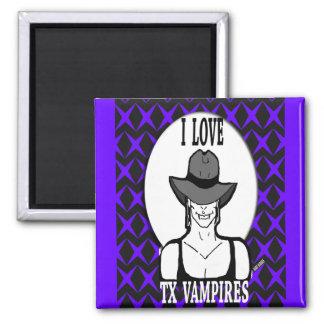 Amo a vampiros de TX Imán Cuadrado