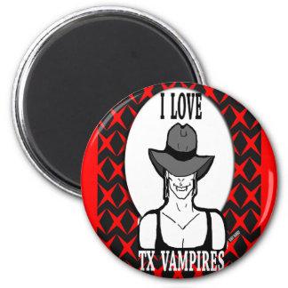 Amo a vampiros de TX Imán Redondo 5 Cm