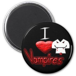 Amo a vampiros imán redondo 5 cm