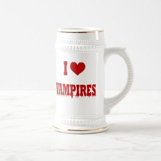 Amo a vampiros jarra de cerveza