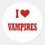 Amo a vampiros pegatinas