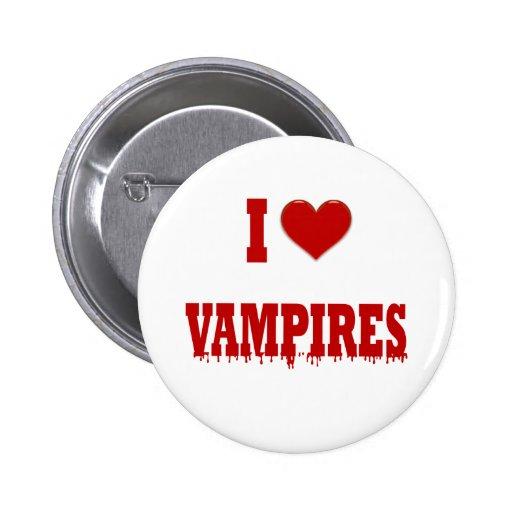 Amo a vampiros pin