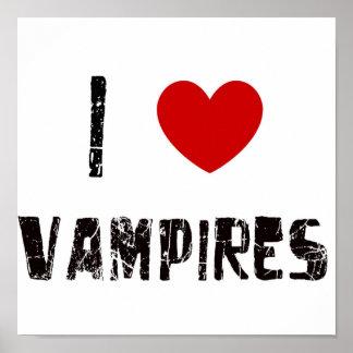 Amo a vampiros póster
