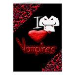 Amo a vampiros tarjeta de felicitación