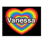 Amo a Vanesa. Te amo Vanesa. Corazón Postales