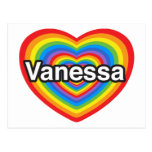 Amo a Vanesa. Te amo Vanesa. Corazón Tarjetas Postales