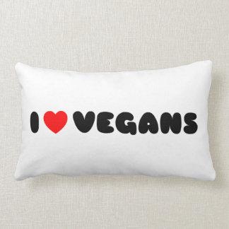 Amo a veganos cojín lumbar