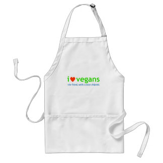 amo a veganos delantal