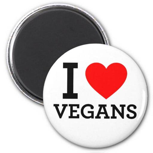 Amo a veganos imán redondo 5 cm