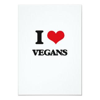 Amo a veganos invitación 8,9 x 12,7 cm