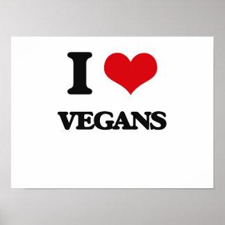 Amo a veganos póster