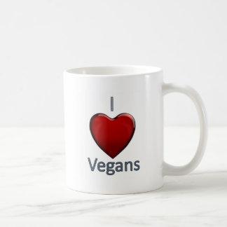 Amo a veganos taza de café