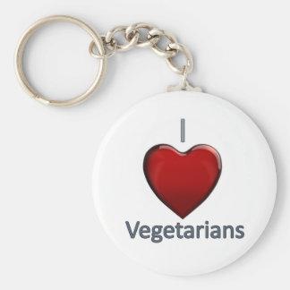 Amo a vegetarianos llaveros personalizados