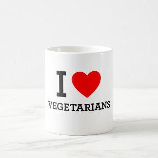 Amo a vegetarianos taza clásica