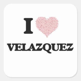 Amo a Velázquez Pegatina Cuadrada