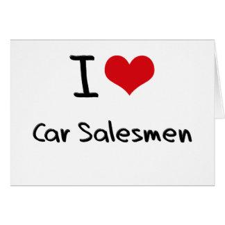 Amo a vendedores de coches felicitaciones