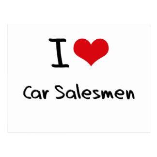 Amo a vendedores de coches postales