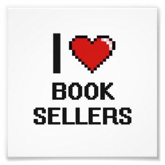 Amo a vendedores de libro impresión fotográfica