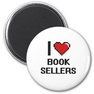 Amo a vendedores de libro imán redondo 5 cm
