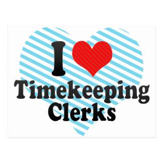 Amo a vendedores del Timekeeping Postales