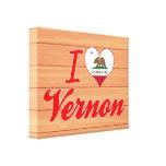 Amo a Vernon, California Impresion De Lienzo