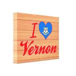 Amo a Vernon, Connecticut Lona Envuelta Para Galerias