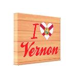Amo a Vernon, la Florida Lona Envuelta Para Galerias