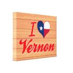 Amo a Vernon, Tejas Lona Envuelta Para Galerias