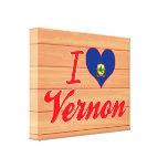Amo a Vernon, Vermont Impresión De Lienzo