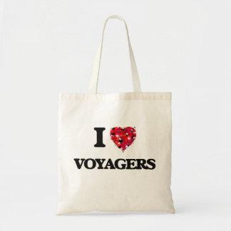 Amo a viajeros bolsa tela barata