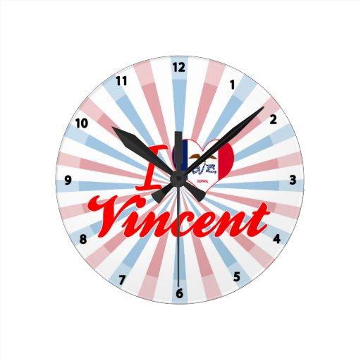 Amo a Vincent, Iowa Relojes