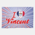 Amo a Vincent, Iowa Toalla De Mano