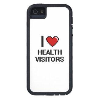 Amo a visitantes de la salud iPhone 5 fundas