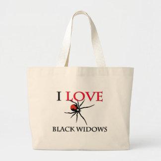 Amo a viudas negras bolsas de mano