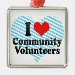 Amo a voluntarios de la comunidad ornamentos para reyes magos
