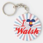 Amo a Walsh, Colorado Llaveros Personalizados