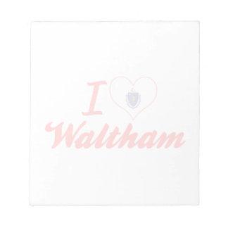 Amo a Waltham, Massachusetts Blocs De Papel