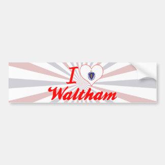 Amo a Waltham, Massachusetts Pegatina De Parachoque